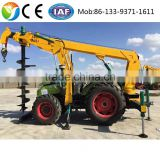 2016 hydraulic earth auger skid steer loader attachment pole hole mini tractor auger drilling machine