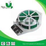 green pvc plastic dispenser wire flat twist ties/ plastic garden twist tie/ plastic twist ties garbage bags
