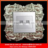 Silver Resin Home Switch Socket Frame Sticker