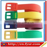 Factory Direct Sales Silicone colorful sport belt/men sport belts