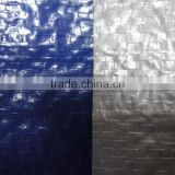 Factory Price Dark Blue Color PE Tarpaulin 110 GSM, Mesh10X8, Both Side 0.04 MM Lamination