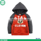 custom fashion baby boys long sleeves hooded sweater coat