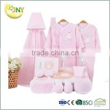 Kids Summer Hot Selling Baby Clothes 100% Cotton Baby Clothing Gift Set Wholesale