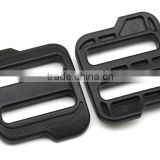 Plastic POM black Adjustable big Buckle Camping Carabiner Tri Glide slider buckles for backpack straps webbing
