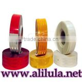 Cheap double color reflective tape for safety/Warning Tape for road traffic sign, truck and vehicle, highway