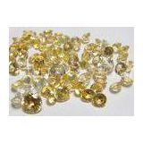 Round Natural Loose Gemstones Golden Yellow Sapphire AAA 0.8MM-2.0MM