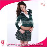 2017 Hot sale janpan high school uniforem Grid skirt Suit jacket sexy girl costume