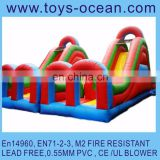 inflatable giant course game /air jumping playground /inflatable for rental