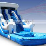 Attractive Big Blue Cartoon PVC Inflatable Water Slide
