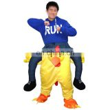 Factory direct sale customized adult chicken-rider mascot costume for sale