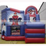 Inflatable spiderman bouncer Slide,Inflatable spiderman jump Slide, spiderman bouncy slide
