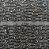Newest Gold Flash Polyester Metallic Mesh Fabric