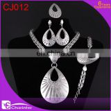 free shipping big fashion jewelry set/rani haar jewelry set/silver jewelry set/dubai gold jewelry set