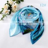 Digital Print Bandana Square Silk Scarf, Factory Direct 87*87CM Woman Favorite Foulard Kerchief Necklace Satin Scarf