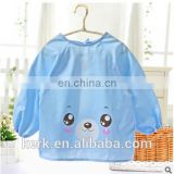 Toddler Waterproof Long Sleeve Bib for dinner Baby Bibs Long-sleeved dress apron Children waterproof clothing