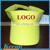 2016 Best sale Blank Yellow Sun visor hat with cheapest price