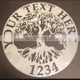 Tree of Life Custom Welcome Name Sign Metal Wall Art