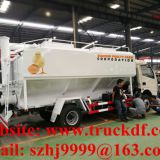 Wholesale best price dongfeng 12m3 hydraulic discharging poultry feed delivery truck for sale