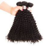 Afro Curl 24 Inch Front Lace Human Hair Wigs Double Wefts  Natural Black Peruvian