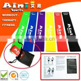Most Popular Home Gymnastics Custom Latex Exercise Resistance Bands,Custom Printed Resistance Bands