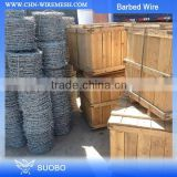 Hot sale 14 gauge gi wire barbed wire, hot dipped galvanized barbed wire, barbed tape wire factory