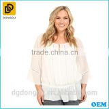 Plus size 2016 fashion design latest summer lady blouse clothing manufacturers cheap lady blouse