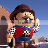 New design lovely inflatable mascot for outdoor exhibition with logo printing