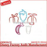 Disney factory audit green elastic bungee cord with metal clips145785