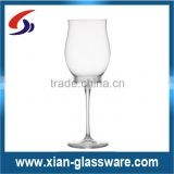 Promotional wholesale cheap high quality clear tulip-shaped champagne glass/flower shaped champagne flute
