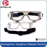 Indoor sports square PC frame paintball goggle with adjustable elastic strap dribble safety eyeglasses