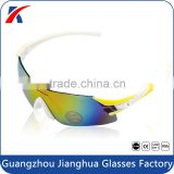 2015 Professional design rimless full shide fake revo coating mountain bike cycling sunglasses