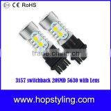 Cheap price 1157 3157 7443 Switchback Double Color LED Turn Signal Light Bulbs White 20SMD 5730 Chips Led Light