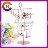 Iron earring necklace hanging display shelf stand piercing jewelry display