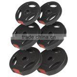 Plastic Coated Tri Grip Olympic Weights for Barbell
