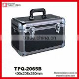 Locking storage aluminum chest case box in black
