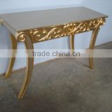 Luxury gold wooden console table I0009-1