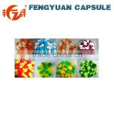 hot sales HPMC cap and body seperated vegetable capsules shell