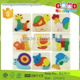 china top selling products lovely animal toys 3D wooden puzzle for baby