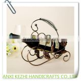 KZ9-60012 Bottle Frame, Wrought Iron Creative Sunflower Wine Rack Table Decoration