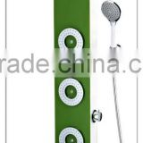 three massage jets green bath shower rain shower shower columntempered shower panel faucet hydro generator