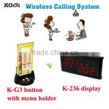 customer call service equipment for restaurant with calling system waiter pager