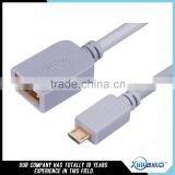 Xinya hot selling new orginal customized length gold-plated A/F to mini 5pin USB cable