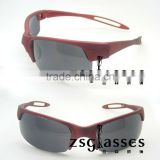 2012 Custom new design fashion Sports eyewear / athlete sunglasses printed logo in frame