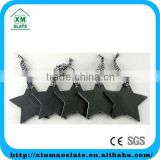 [factory direct] 10x10cm Cut Edge Star Shape Set Of 4 Slate Hanging Craft Item DP-1010ID1A2