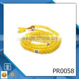 Christian necklace natural-rosary japa mala beads yellow crystal rosary