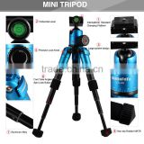 Portable Folding Ultra Aluminum alloy Tripod Compact Desktop Macro Mini Tripod Kit with Ball Head for Canon DSLR Camera