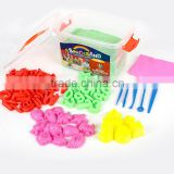 CE EN71 standard Non-toxic Never Dry Non Sticky to Hands Magic Modeling Play Sand Gift Set