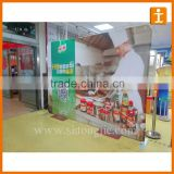 curve shape trade show custom printed pop up/ display banner in China