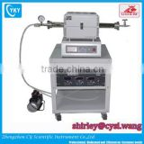 Mini graphite tube furnace Mini Graphene film CVD Quartz Tube Furnace upto 1200C with digital gauge