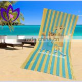 China supplier 100%cotton cut pile bath towel reactive printing parent-child beach towel